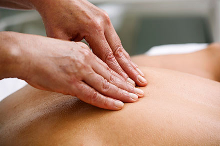 Exertion and massage, a natural combination with instant gratification.